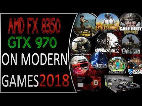 AMD FX 8350 GTX 970 on Modern games 2018!!!✅