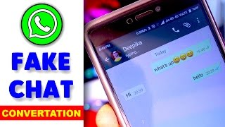 How to Make Fake Whatsapp Chat Conversation in any android mobile - Hindi