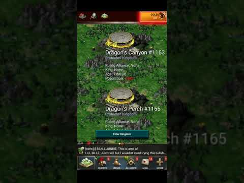 (Game Of War) *NEW* 100% OLD STYLE GAME!! *DRAGON DIMENSION* GAME OF WAR CLASSIC SERVER INGAME!?!?