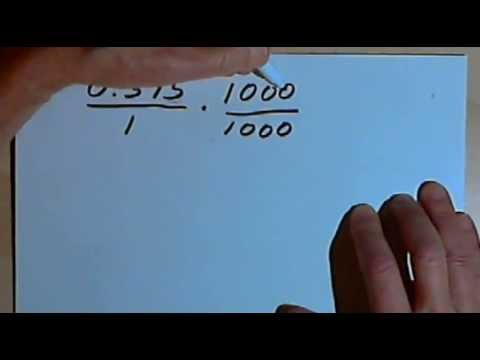Converting Terminating Decimals to Fractions 127-4.2 - YouTube