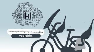 Urban Iki Front seat: fietsstoeltje op het montageblok bevestigen