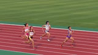 2017.10.1 第22回 東北高校新人陸上 女子4×400mR 決勝 順位 レーン 記録 チー...