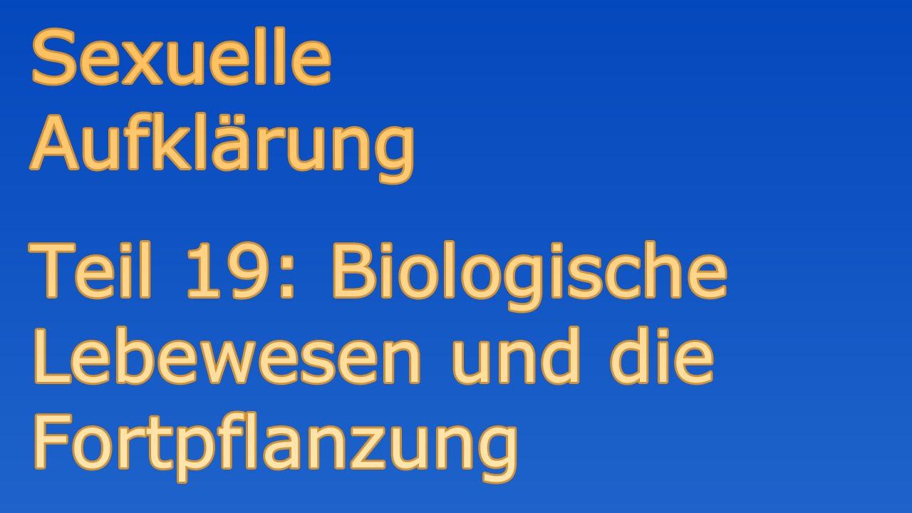 Aufklärung Sexualität 19 Biologische Lebewesen und die Fortpflanzung ...