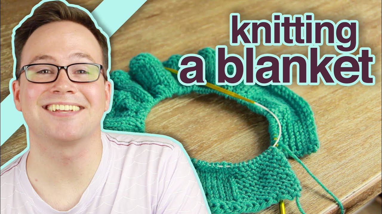 How To Knit Stitch On Circular Needles : How to Knit a Blanket With Circular Knitting Needles - YouTube