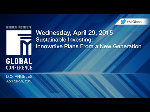 Sustainable Investing: Innovative Plans From a New Generation