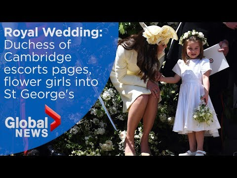 Royal Wedding: Kate Middleton and her children arrive at Windsor Castle