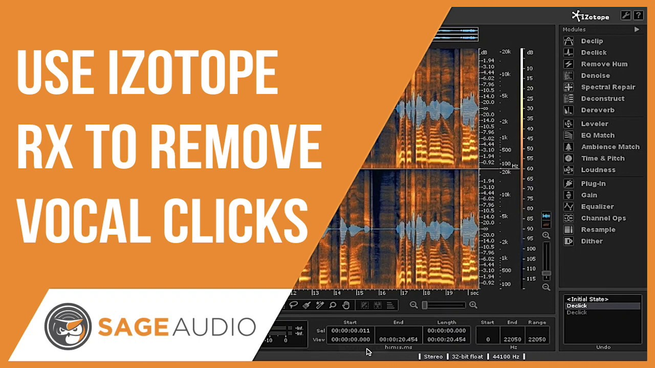Remove Unwanted Clicks Fast with Izotope's RX — Sage Audio
