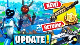 "*NEW* FORTNITE UPDATE! ""INFANTRY RIFLE"" *NEW* SECRET BUNKER, PLANES RETURN! - Fortnite Moments"