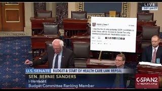 Repeat youtube video Bernie Sanders Trolls President-Elect Trump on Senate Floor FULL Speech 1/4/17