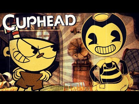BENDY'S RIVAL & AWESOME TRACKING GUN! | Cuphead Gameplay [Old Style Cartoon Game]