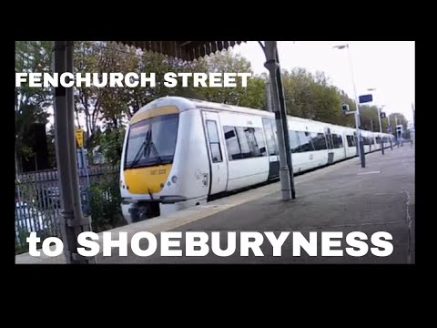 LONDON FENCHURCH STREET TO SHOEBURYNESS RAIL JOURNEY VIDEO | Train Journey Video Youtube | C2C