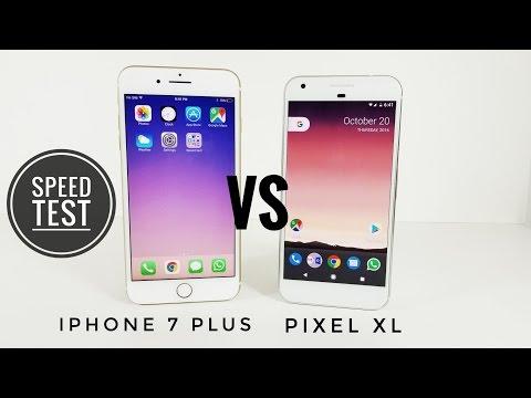 Google Pixel XL vs iPhone 7 Plus - Speed Test