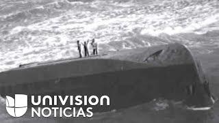 Dramático rescate de madre y dos niños en embarcación volcada en Puerto Rico por huracán María