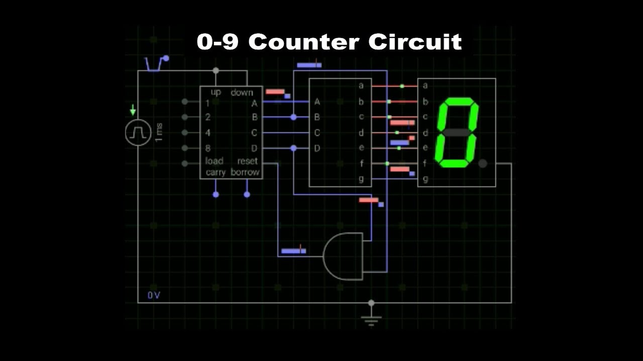 0 9 Counter Circuit Diagram Schematic Diagrams Ep 52 Youtube Dc Drive