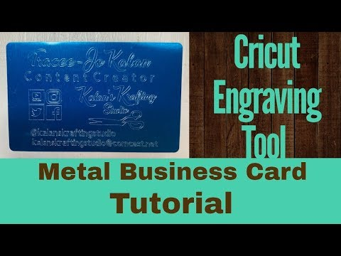 Cricut  Engraving Tool - Metal Business Card Tutorial thumbnail