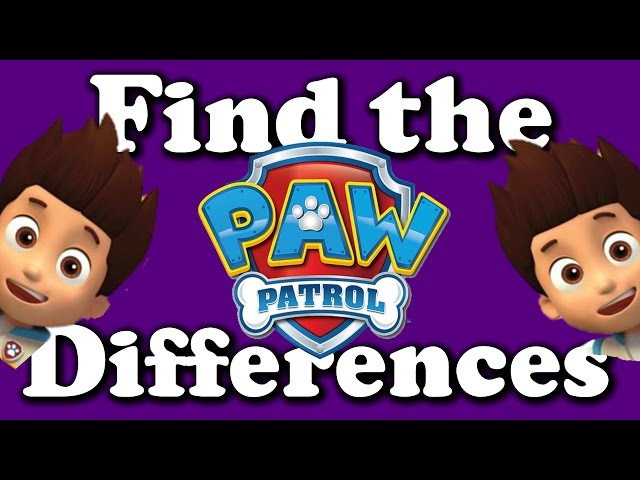 Find the Differences - PAW PATROL - KIDS GAME