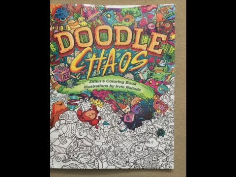 Doodle Chaos Zifflins Coloring Book Volume 3 Flip Through