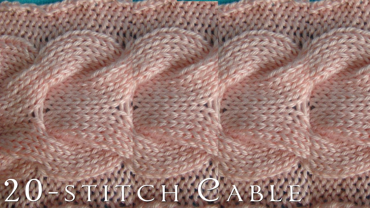 Knitting Cable Stitch Dictionary : How-To 20-Stitch Cable Knitting - YouTube
