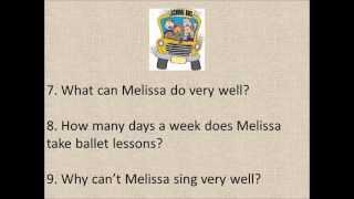 English Listening Exercise, Beginner,(bill & Melissa) By Damien Zellers
