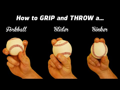 3 Pitching Grips - How to throw the Sinker, Slider, and Fork