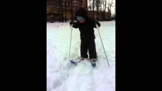 Впервые на лыжах