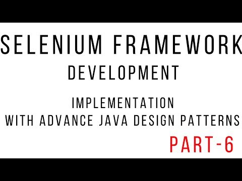 selenium framework using java - Develop Driver Modules