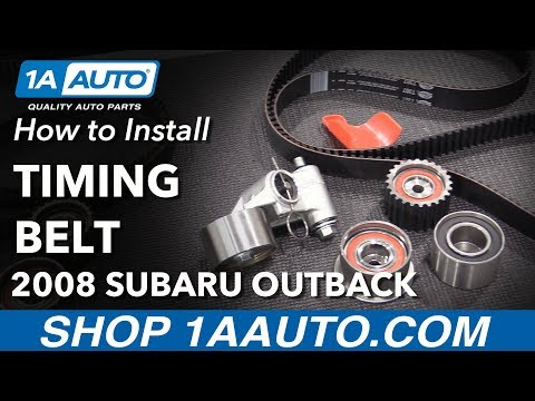 How to Replace Timing Belt, Tensioner, and Pulleys 06-09 Subaru Outback