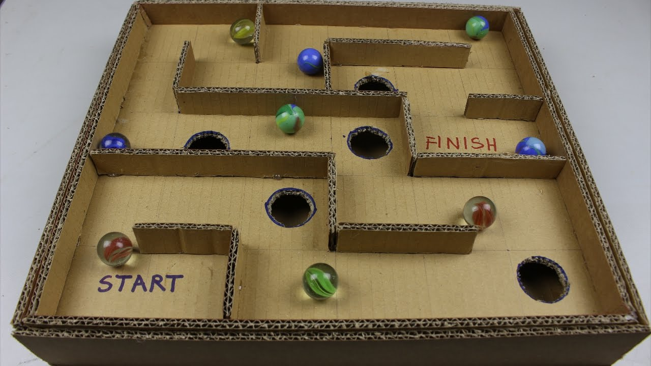 Exceptional Cardboard Games Part - 2: DIY Board Game Marble Labyrinth From Cardboard | How To Make Amazing Game