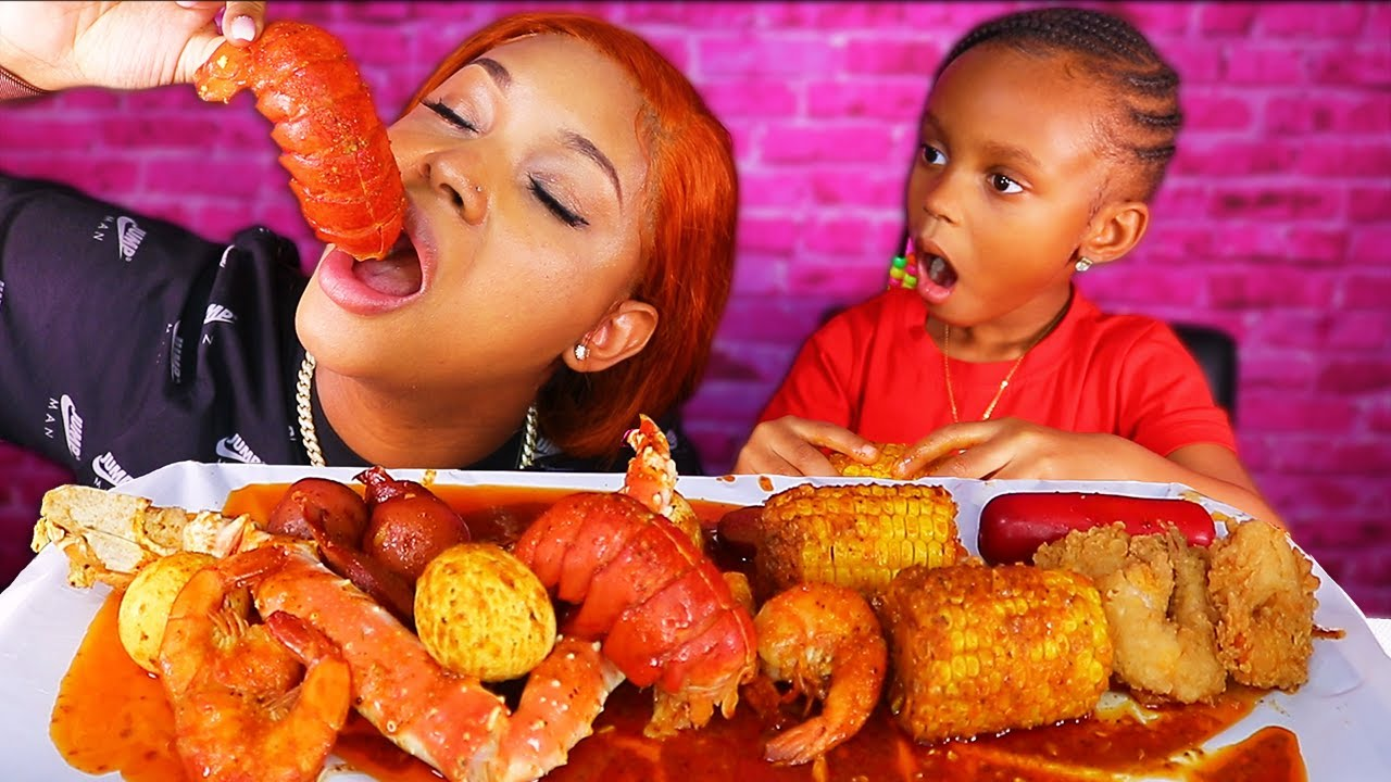 LAYLA's GROWING UP + LOBSTER TAIL & KING CRAB SEAFOOD BOIL MUKBANG | QUEEN BEAST