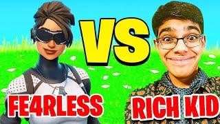 Fe4RLess Vs Rich Kid (Fortnite 1v1)