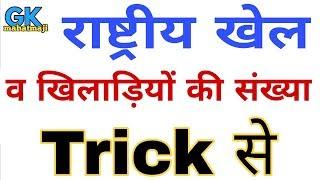 Gk Tricks in hindi | खेल व खिलाड़ियों की संख्या | Sports gk trick | Railway group d gk, ssc
