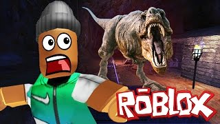 ESCAPING THE DINOSAUR IN ROBLOX
