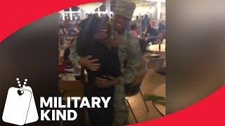 Cries of joy when Airman returns home