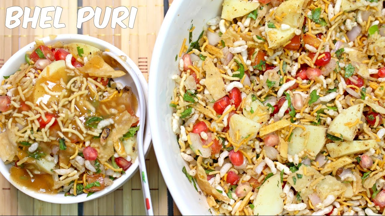 bhel puri recipe by food in 5 minutes youtube