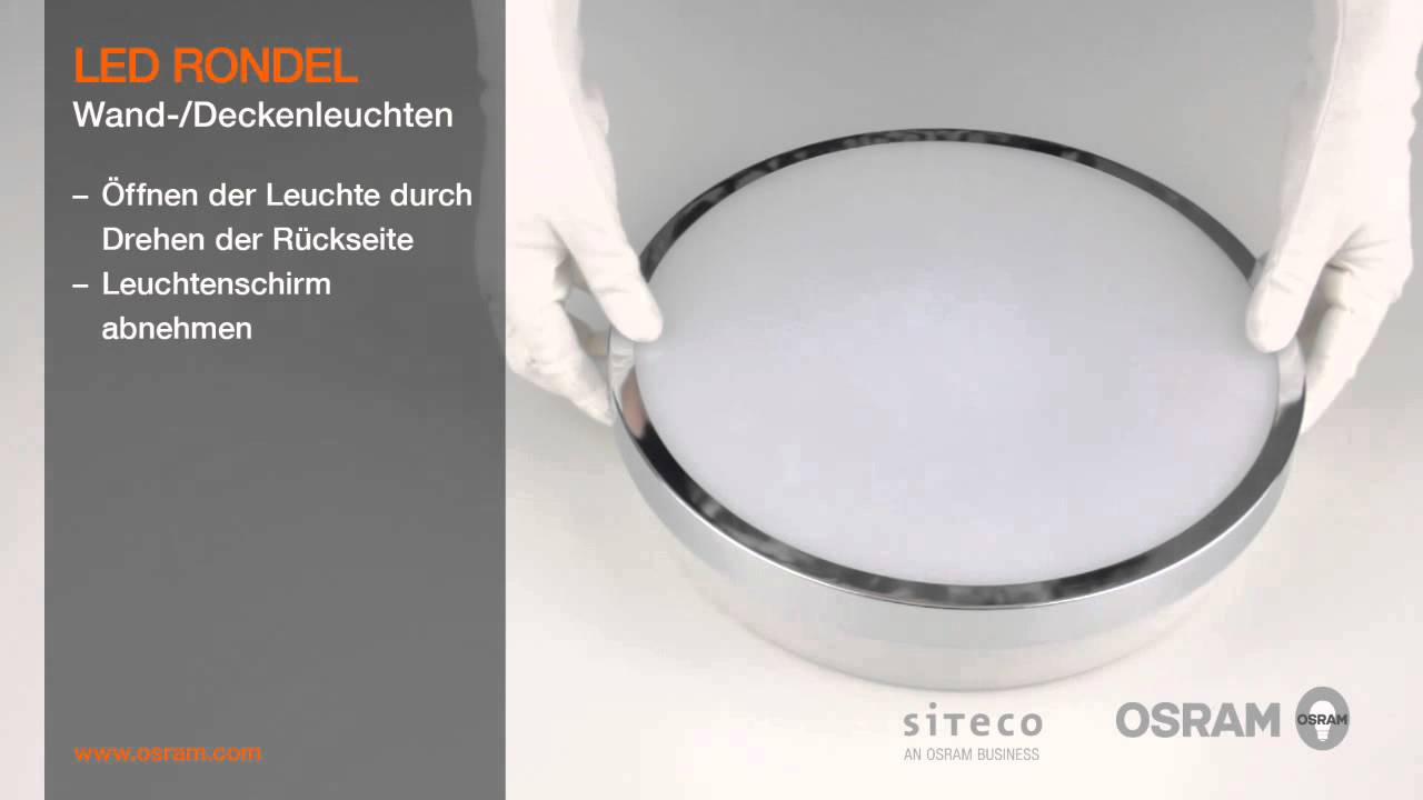 Osram Led Leuchten Osram Led-leuchten Essentials - Led Rondel - Youtube