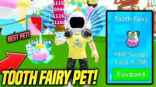 I GOT THE BEST NEW PET IN ICE CREAM SIMULATOR FAIRY UPDATE!! *GODLY SCOOPS* (Roblox)