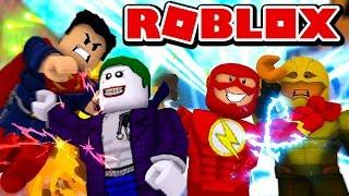 OVERPOWERED SUPERHEROES vs SUPERVILLAINS! (Roblox Superhero Smackdown)