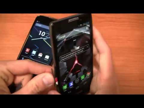 Google Nexus 4 vs  Motorola DROID RAZR HD Dogfight Part 1