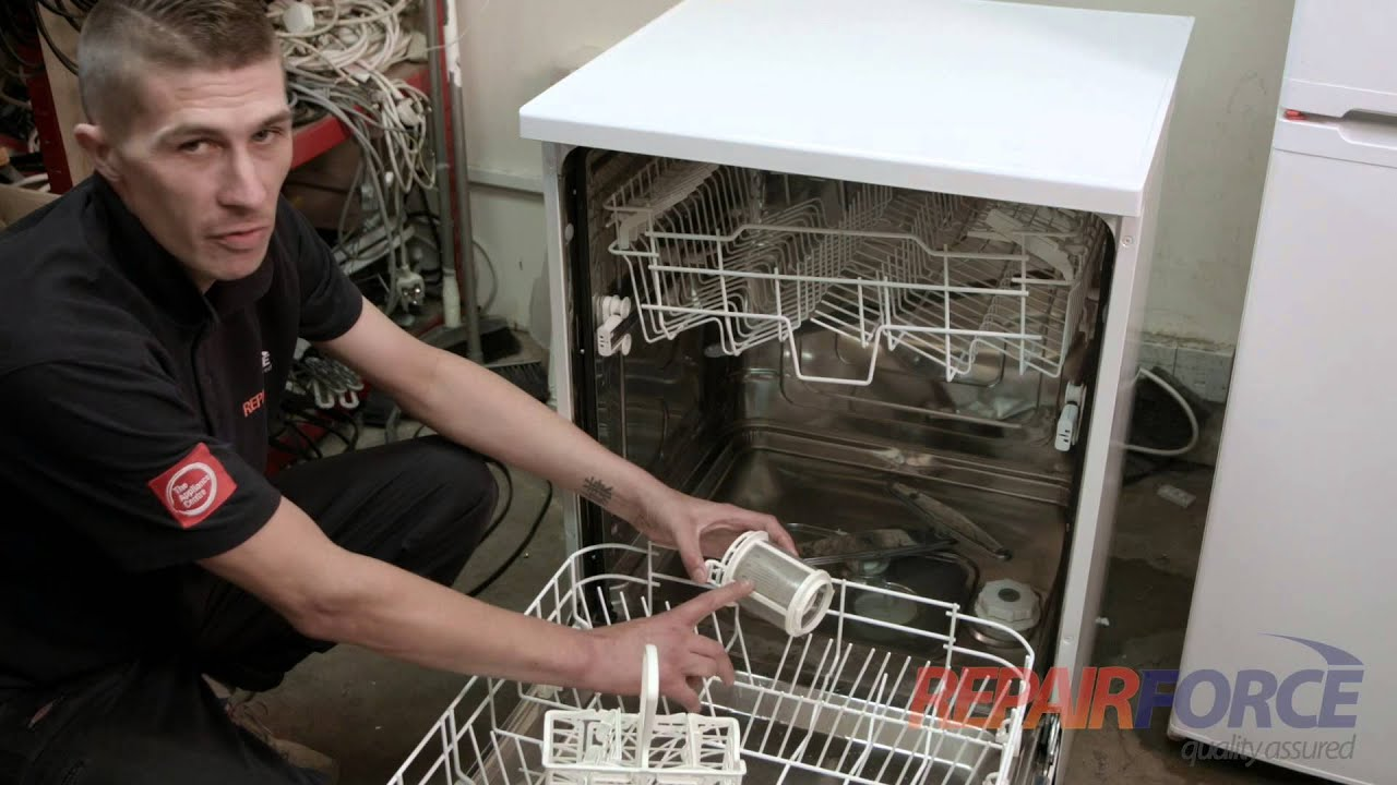 Ge Dishwasher Filter How To Fix A Smelly Dishwasher Youtube
