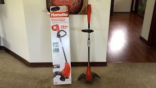 Homelite 4 Amp Straight Electric String Trimmer Review