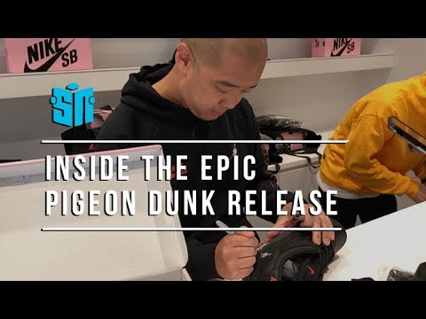 "low priced ea272 01825 Nike ""Pigeon Dunk"" Release in NYC  NYPD Shuts Down Line Hundreds Deep"