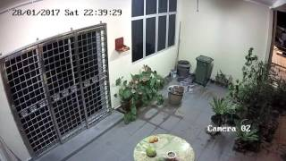 Thief face caught on CCTV breaking into my house