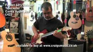 Fender 60's Reissue Telecaster. Candy Apple Red  £425.mp4
