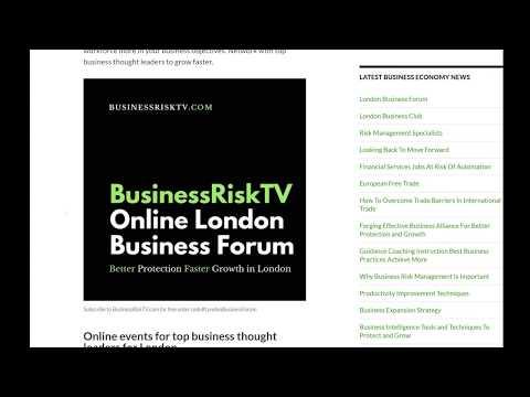 BusinessRiskTV Online London Business Forum