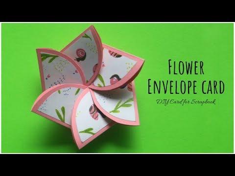 Flower Envelope Card Making | Handmade Cards for Scrapbook | Easy Scrapbook Card Ideas