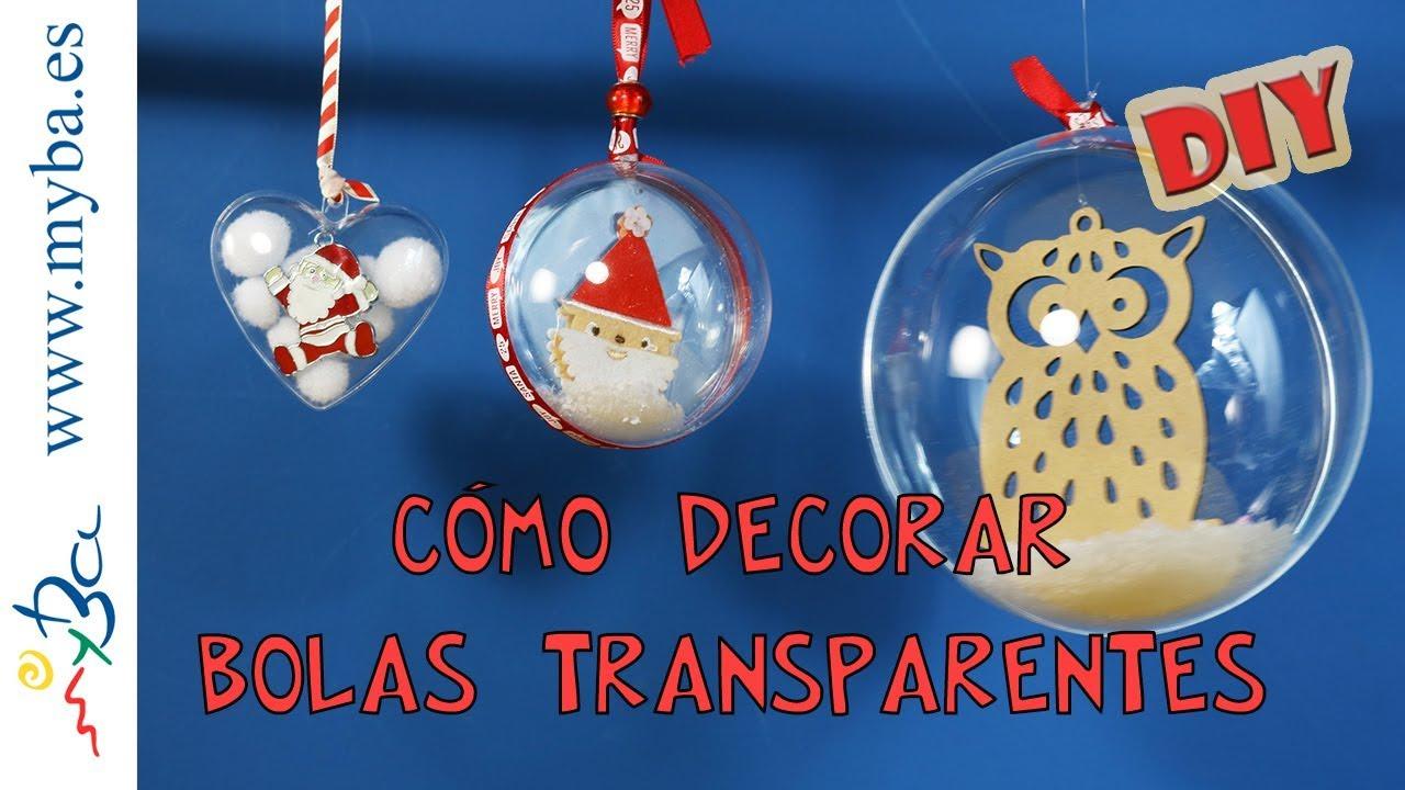 cmo decorar bolas transparentes diy decoracin para navidad escaparates fiestas eventos y ms - Como Decorar Una Bola De Navidad
