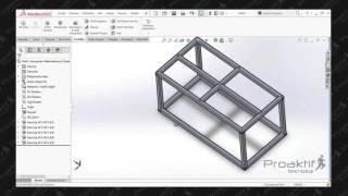 SolidWorks Parça   90  Çelik Konstrüksiyon Modelleme