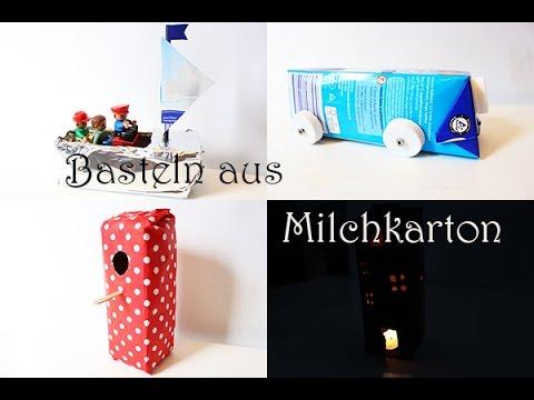 Diy Upcycling Spielzeug Basteln Aus Tetra Pack Auto Schiff Haus