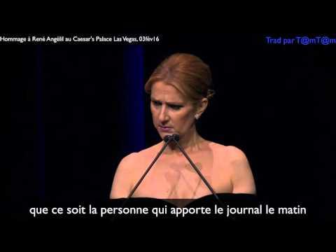Céline Dion rend Hommage à son Mari René Angélil