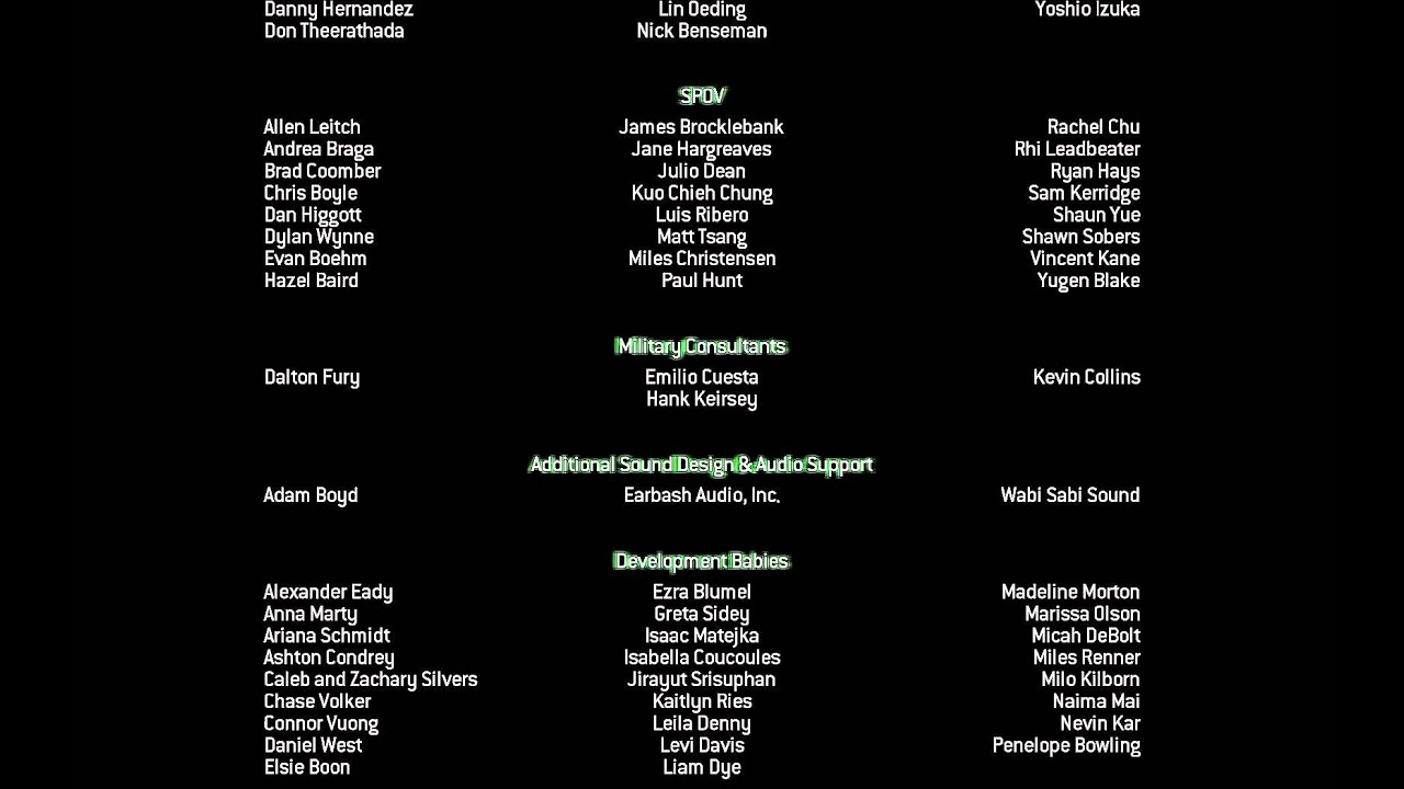 """Call of Duty 8: Modern Warfare 3"", game Credits - YouTube"
